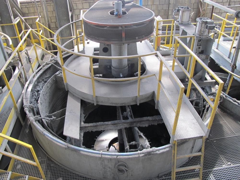 Empty flotation cell