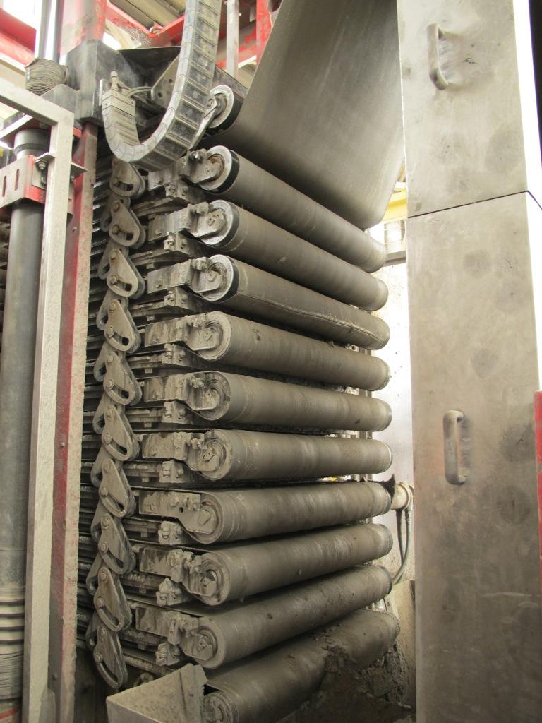 Belt filter press in operation